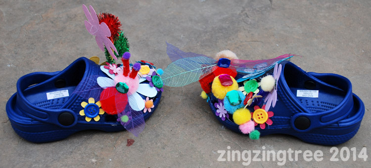 Dragonfly Flower Shoes Side