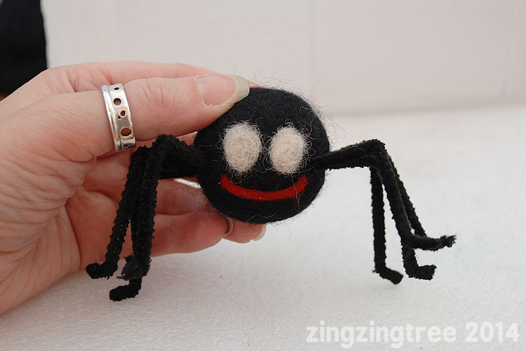Needle Felt Spider Face