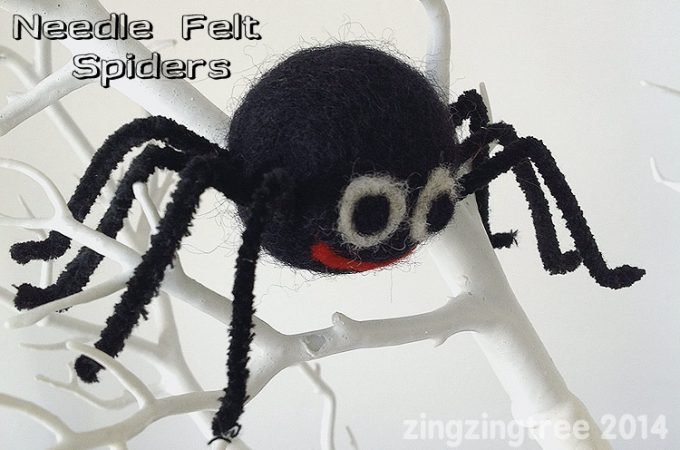 Needle Felt Spider Craft