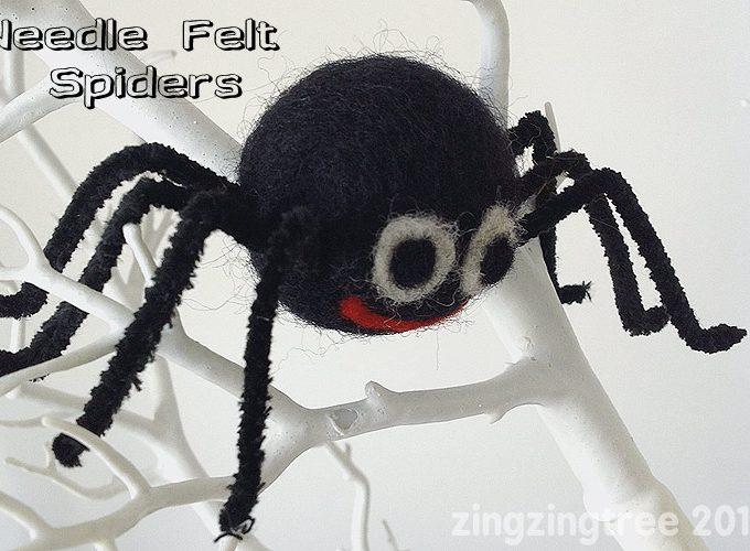 Needle Felt Spider Craft