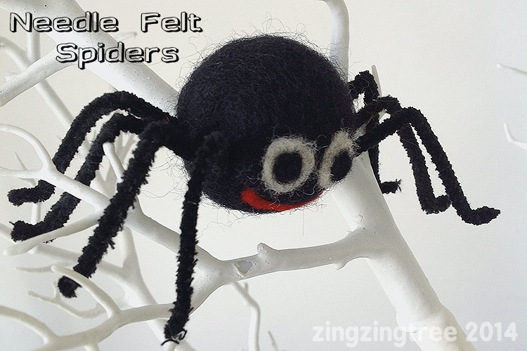 Needle Felt Spiders