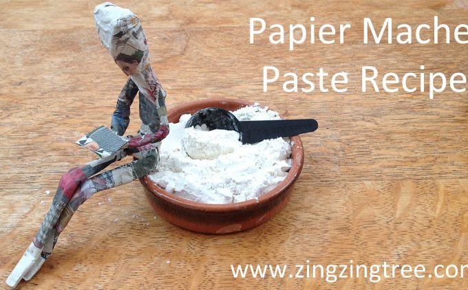 Make Your Own Easy But Strong Papier Mache Paste