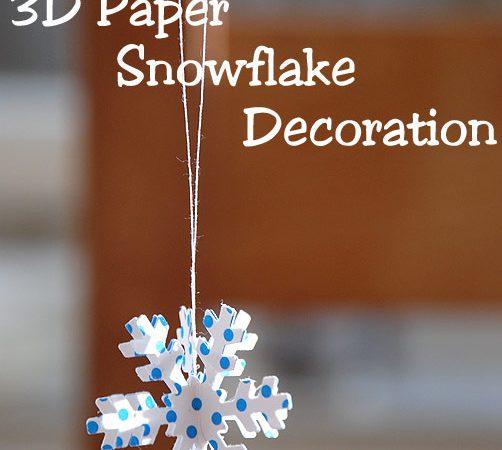 3D Paper Snowflake Decorations