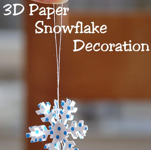 3D Paper Snowflake Decorations