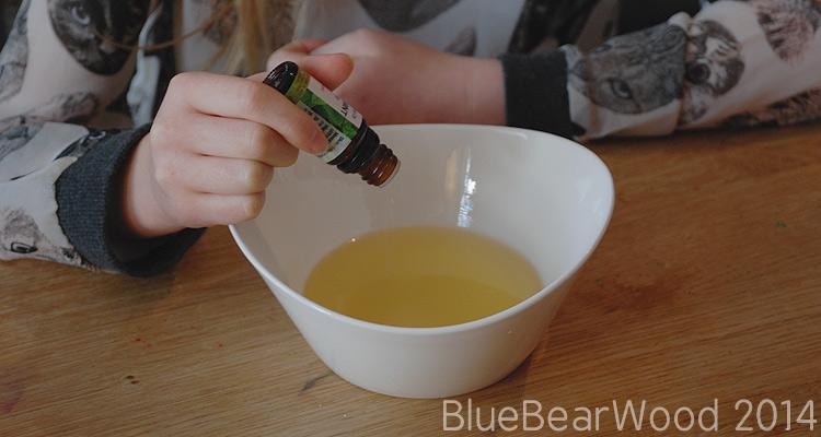 Add peppermint essential oil