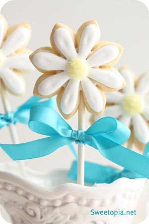 Flower Cookie Pop