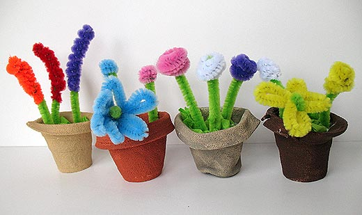 Mini Pipe Cleaner Flower Pots