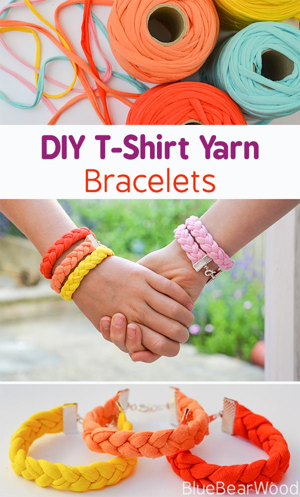 How To Make Tshirt Yarn Bracelets