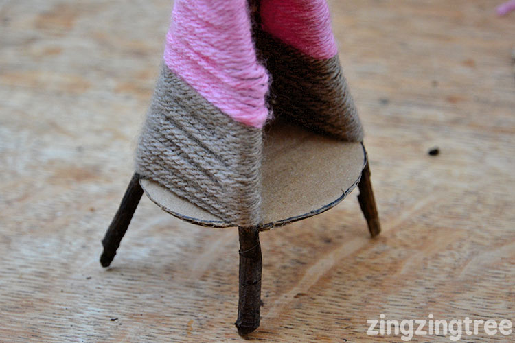 Yarn Teepee Tea Light Holder