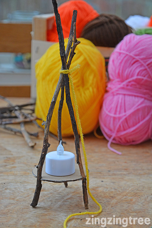Yarn Stick Teepee Craft