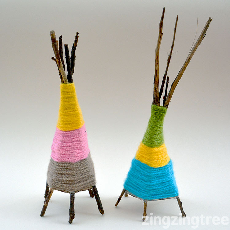 Yarn Teepee Craft