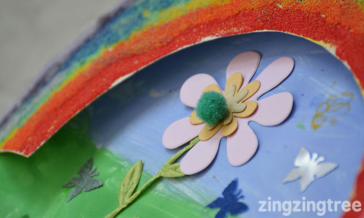 Paper Plate flowers & Paper Plate Rainbow
