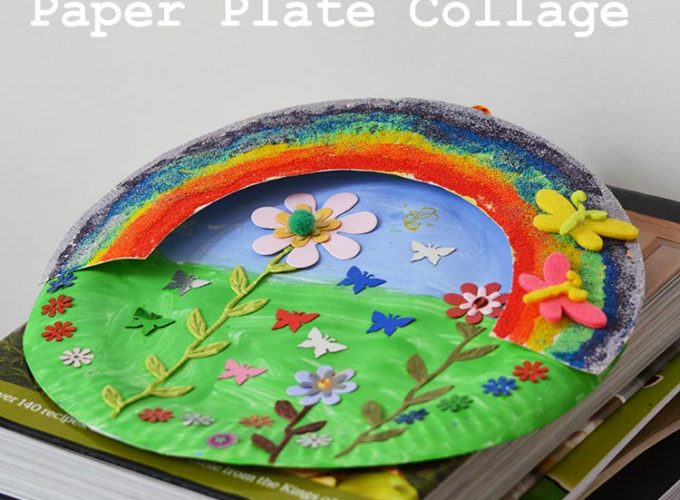 Paper Plate Rainbow Garden