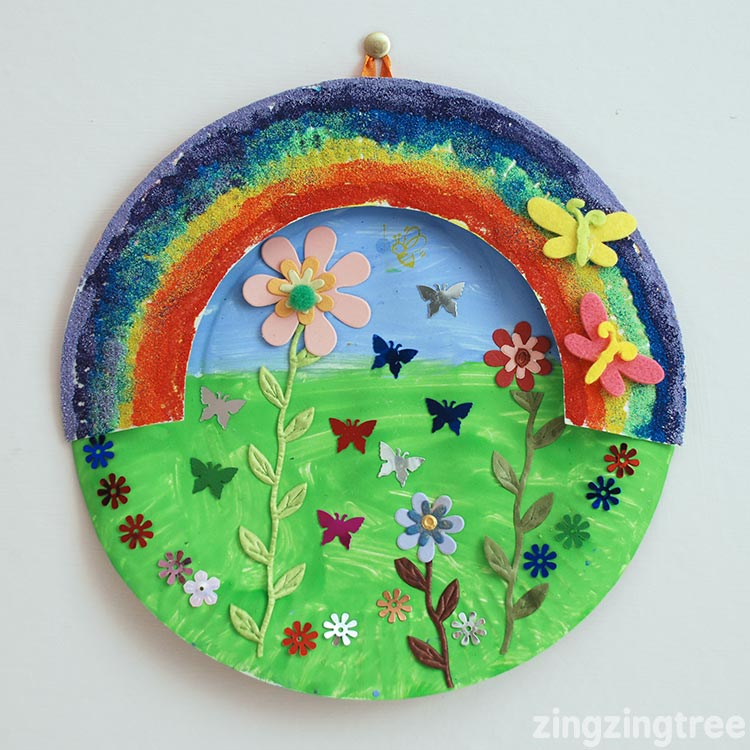 Rainbow Paper Plate Collage