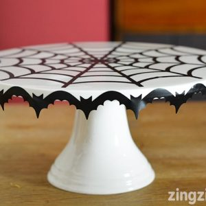 DIY Halloween Cake Stand Decoration