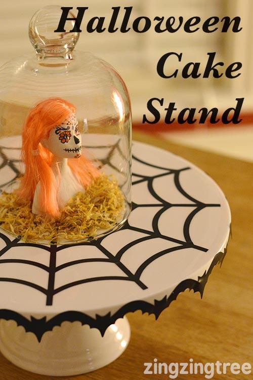 Halloween Cake Stand Using Cricut Expore