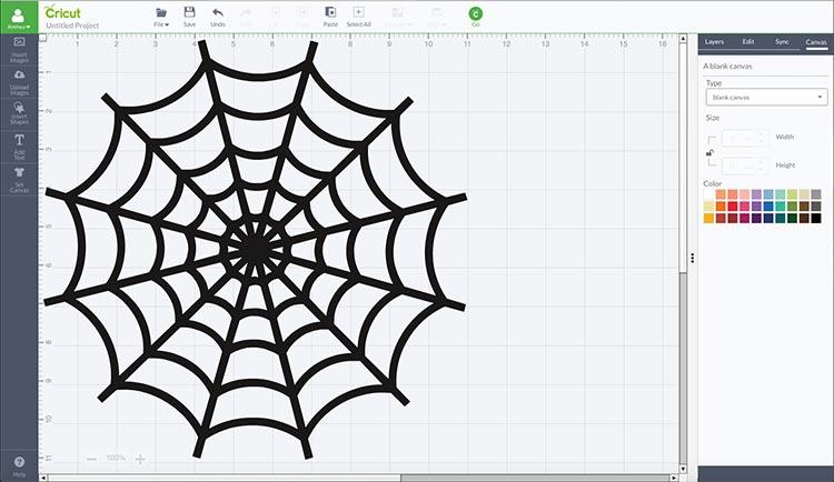 Cricut Spider Web