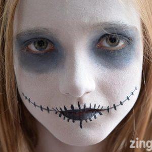 Halloween ghoul facepaint