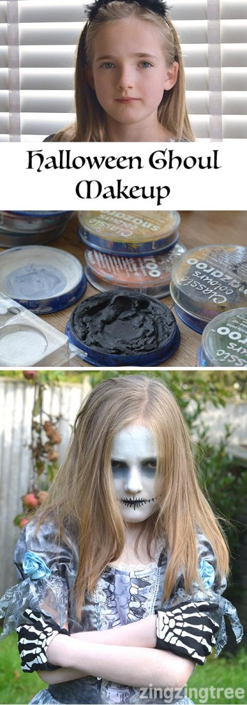 Transform Your Kids Halloween Costume With This Cool Ghoul Facepaint