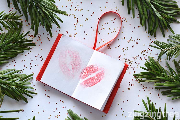Book Of Kisses Christmas Tree Decoration