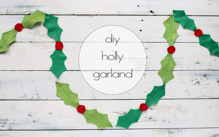 Felt Holly Garland