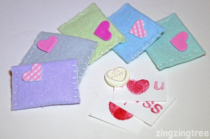 Cute Felt Valentine Envelopes
