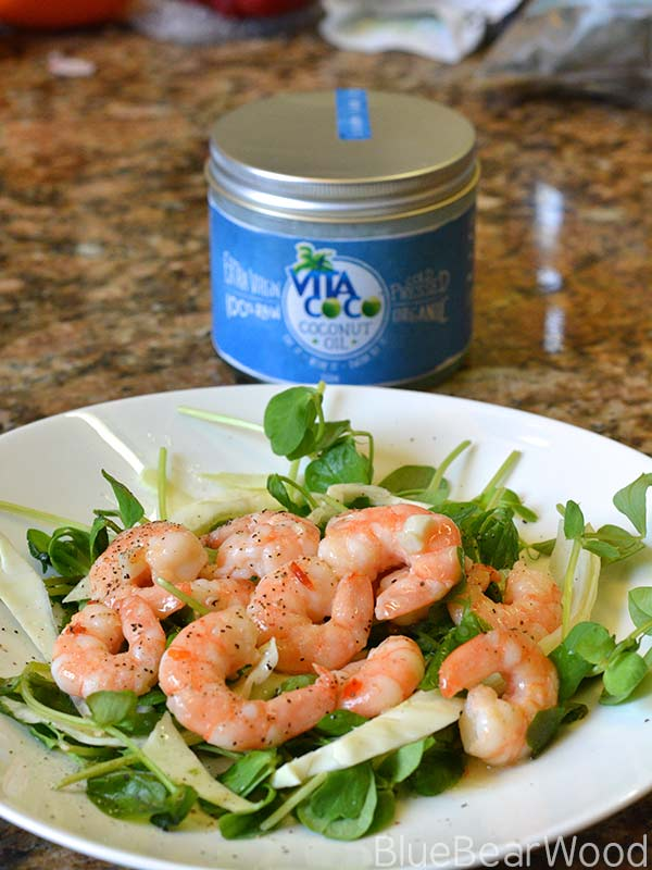 Coconut Oil Sweet Chilli Prawns