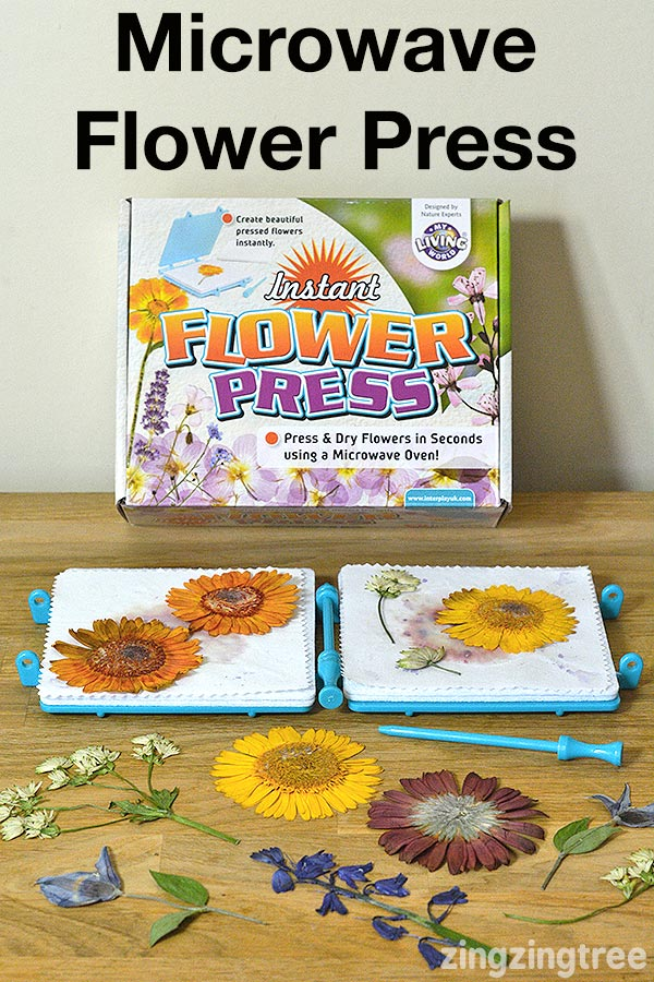 Microwave flower press kit