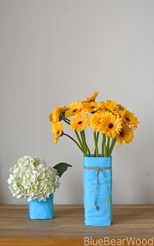 DIY Upcycled Milk Carton Flower Vase
