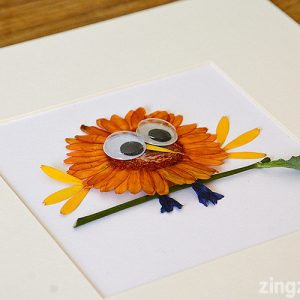 Dried flower bird craft