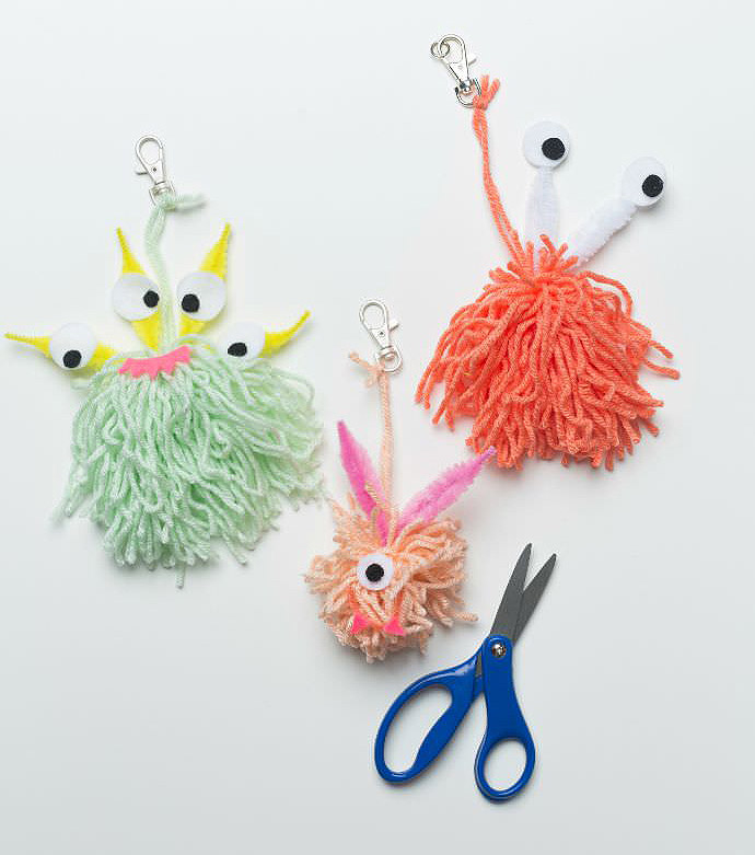 Monster Crafts Made From Wool