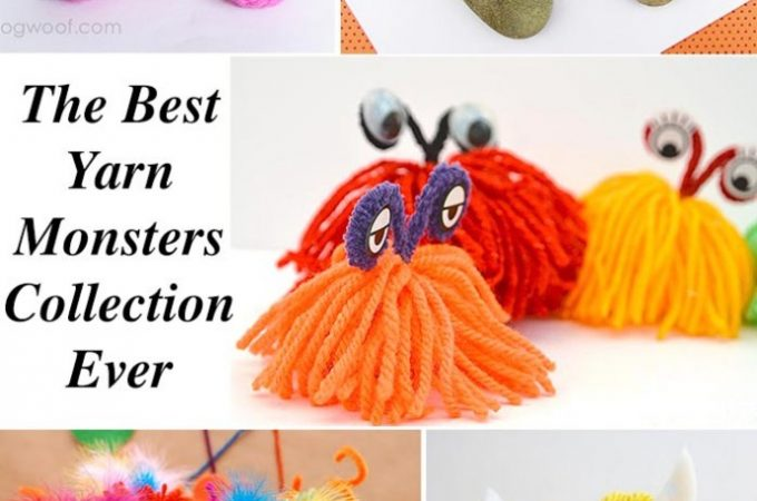 Monster Crafts From Yarn And Wool