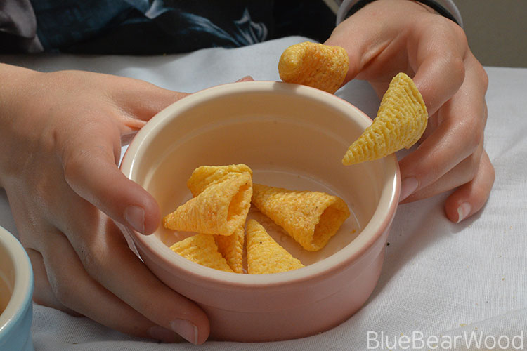 The game of Bugles Walkers Crisps