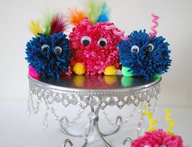 Monster Crafts Made From Yarn