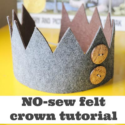 no sew felt crown