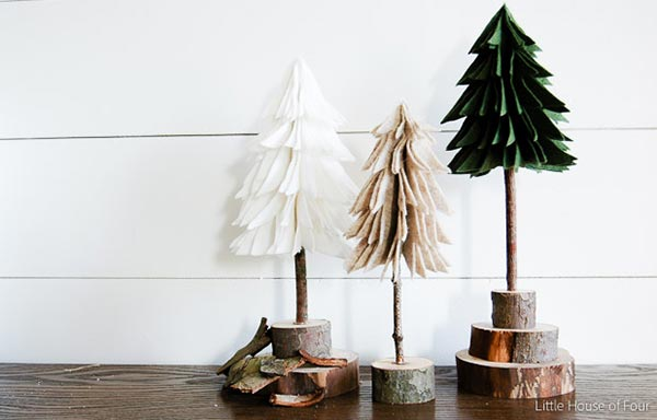 Rustic Felt Christmas Trees