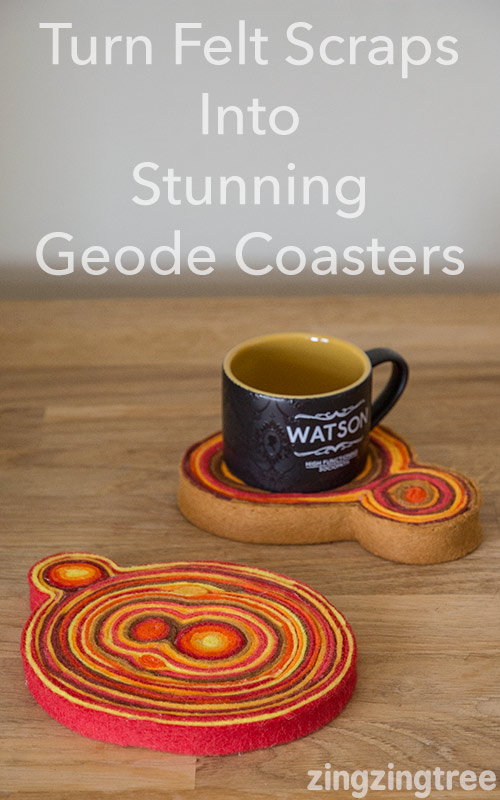 How to Make Stunning Scrap Felt Geode Coasters