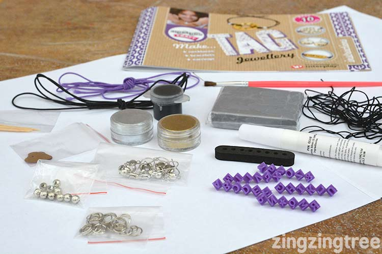 What's inside the tag jewellery kit by my style