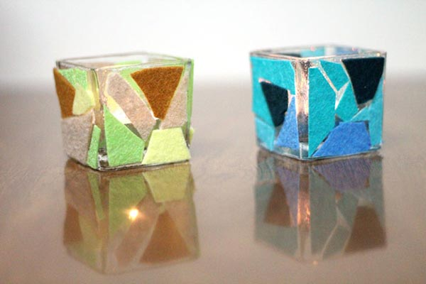 Felt Mosaic Votive holders