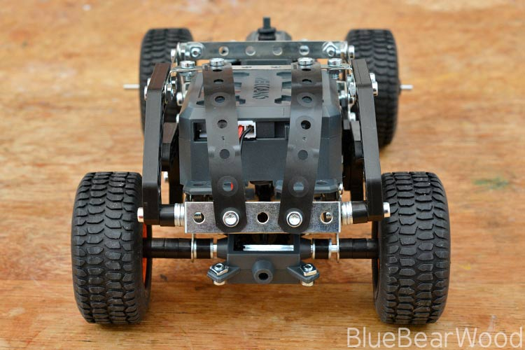 Back end of Meccano 4x4 off road truck