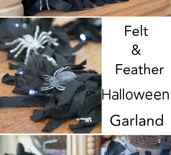 Super Simple Feather And Felt Halloween Garland
