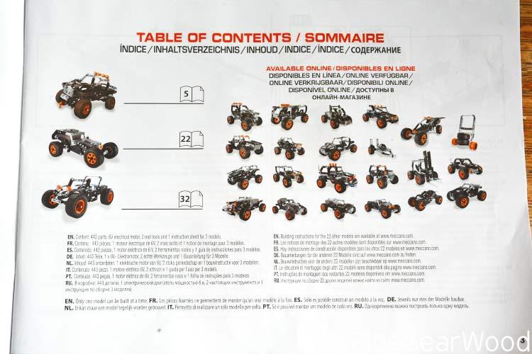 Meccano 4x4 truck variations