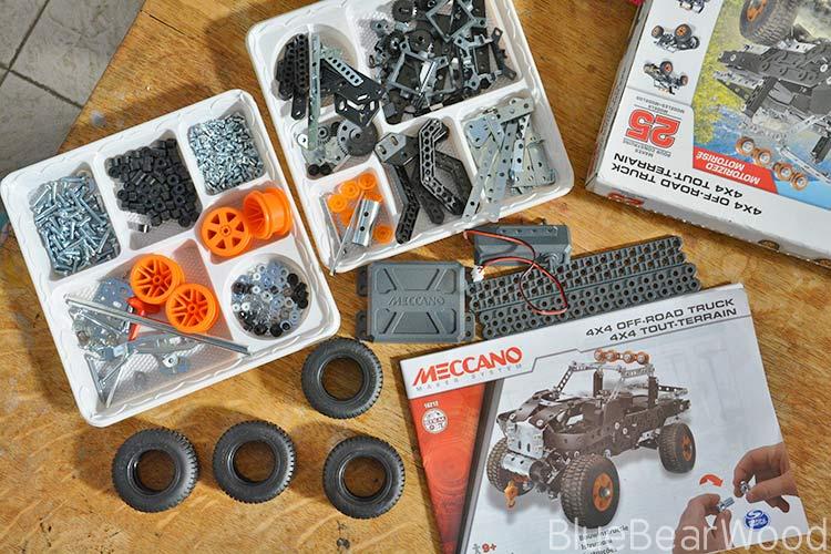 Meccano 4x4 off road truck kit contents