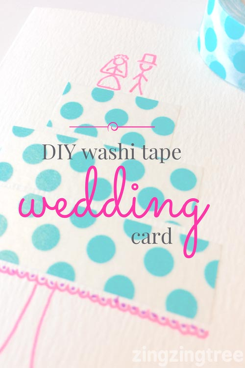 DIY Washi Tape Wedding Card