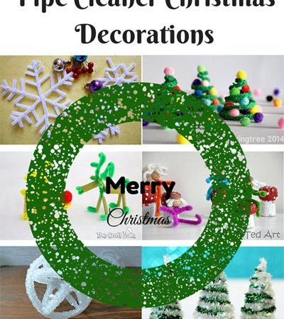Pipe Cleaner Christmas Decorations