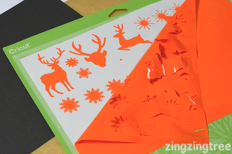 Orange cricut window cling