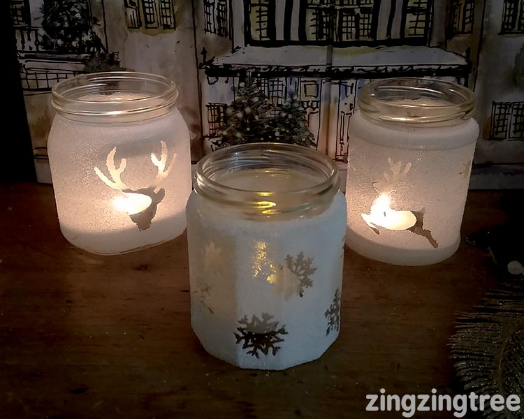DOY frosted glass jar luminaries