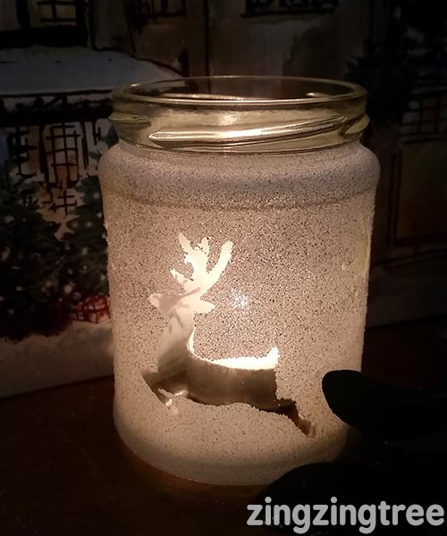 Diy frosted winter luminary