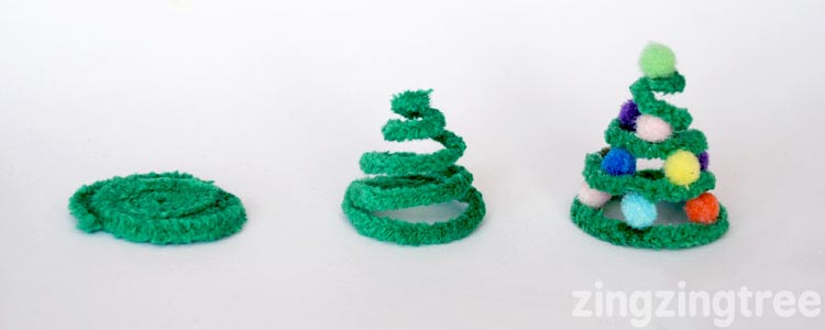 pipe cleaner trees construction