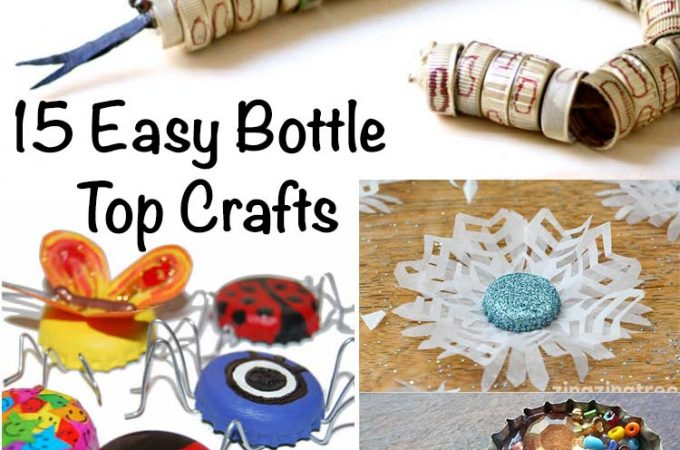 15 Easy Bottle Top Crafts You Will Want To Treasure